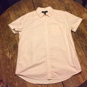 Forever 21 pink & white striped shirt